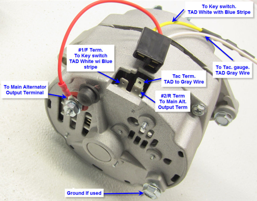 delco 65 amp standard alternator